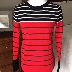 EXPRESS RED AND BLACK STRIPED SWEATER